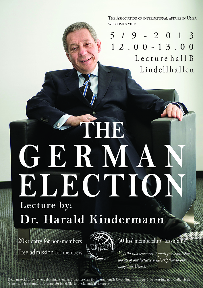 THE GERMAN ELECTION lecture by Dr. Harald Kindermann